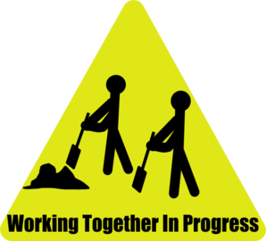 Working Together In Progress Clip Art