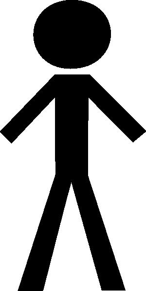 Black Stick Figure Clip Art at Clker.com - vector clip art ...