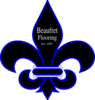 Royal Blue Fleur De Lis Beaufret Flooring Logo Clip Art