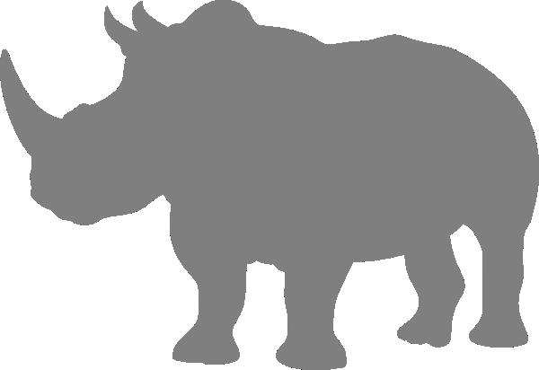 Gray Rhino Clip Art at Clker.com - vector clip art online ...