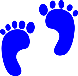 blue baby footprints clip art at clker com vector clip art online rh clker com baby boy footprints clip art clipart baby footprints free