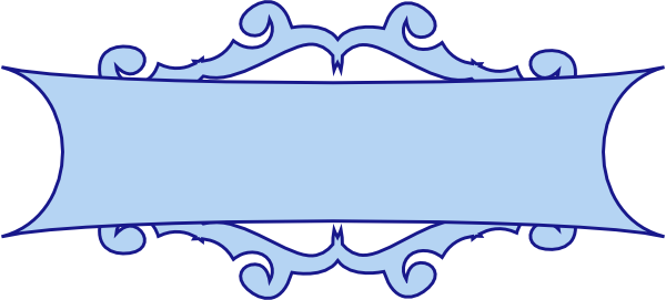 Blue Scroll Banner Clip Art at Clker.com - vector clip art ...