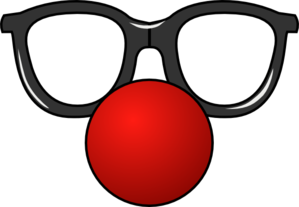Clown Nose With Glasses Clip Art