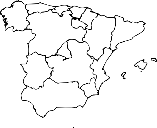 Map Of Spain Clip Art At Clker Com