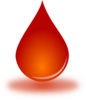 Blood Drop 1 Clip Art