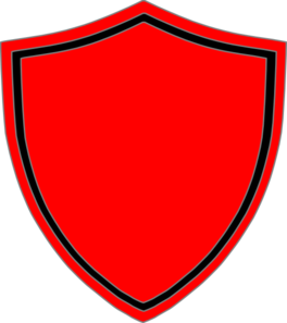 Red Shield With Black Border Clip Art