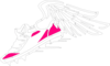 Pink Winged Shoe Clip Art