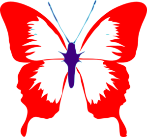 Red Mid Butterfly Clip Art