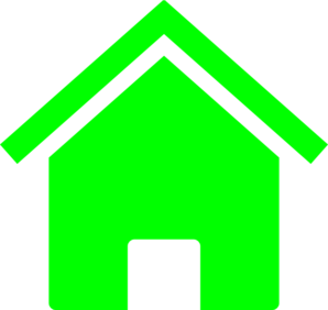 Simple Green House Clip Art
