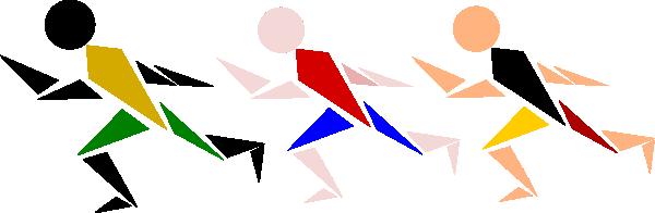 Track Runners Clip Art at Clker.com - vector clip art online, royalty ...