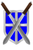 Swords And Blue Shield Clip Art