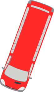 Red Bus - 250 Clip Art