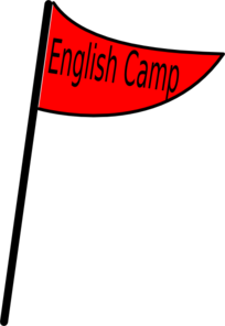 Red Flag English Camp Clip Art