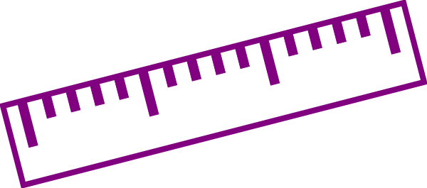 Purple Ruler Clip Art at Clker.com - vector clip art online, royalty ...