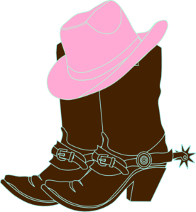 Cowgirl Boots And Pink Cowgirl Hat Clip Art