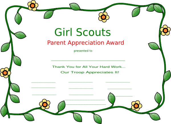 Girl scout clip art at vector clip art online for Girl scout award certificate templates