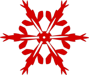Red Snow Flake Clip Art
