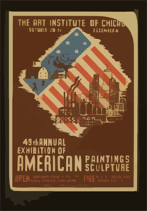 49th Annual Exhibition Of American Paintings Sculpture  / M. Waltrip. Clip Art