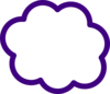 Purple Cloud Clip Art