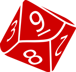 Ten Sided Dice Clip Art