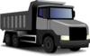Gray Truck Revised Clip Art