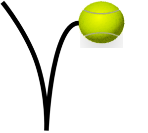Tennis Ball Bounce Clip Art