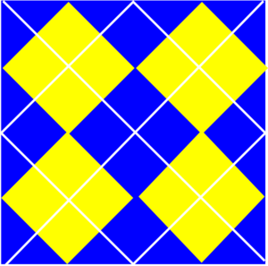 Blue  And  Yellow Plaid Clip Art
