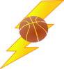 Basketball Lighting Bolt Clip Art