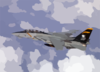 F-14 Tomcat Assigned To Vf-103 Conducts Mission Over The Mediterranean Sea. Clip Art