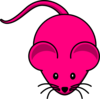 Fuschia Mouse Graphic Clip Art