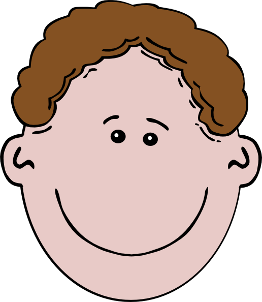 brown haired boy clip art at clkercom vector clip art
