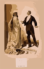 [man In Tuxedo Questioning Woman In Cloak & Gloves] Clip Art