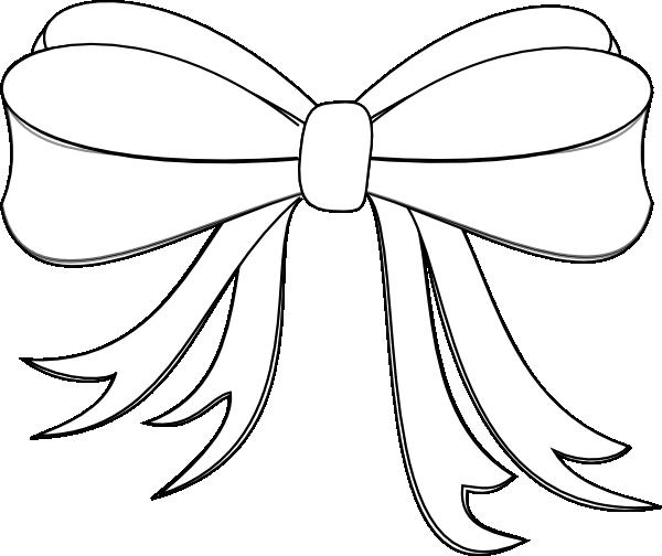 White Ribbon Bow Clip Art at Clker.com - vector clip art ...