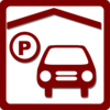 Hotel Icon Indoor Parking - Red2 Clip Art