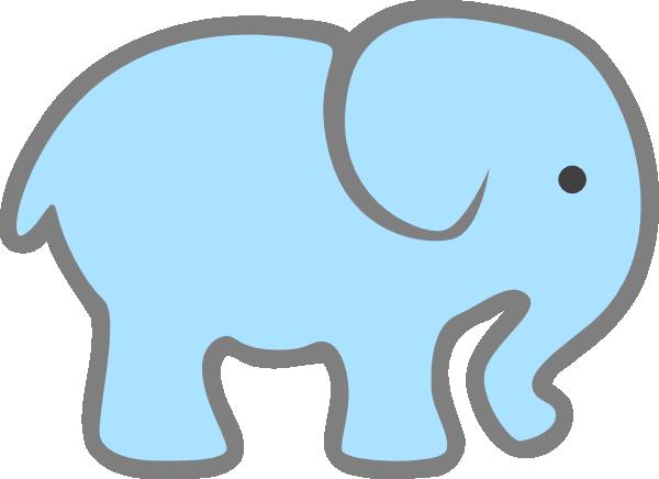 lt blue baby elephant clip art at clker com vector clip art rh clker com baby elephant clipart images elephant clipart pics