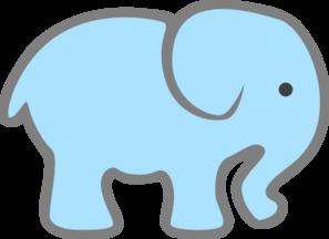lt blue baby elephant clip art at clker com vector clip art online rh clker com baby elephant clip art images baby elephant clipart black and white