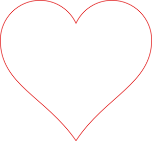 Heart Outline Red Clip Art