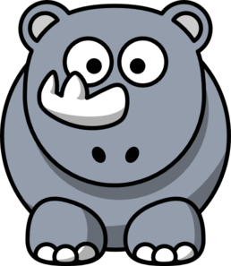 Cartoon Rhino Clip Art Clip Art