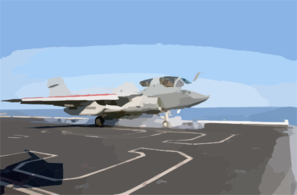An Ea-6b Launches From One Of Four Steam Powered Catapults On The Ship S Flight Deck Clip Art