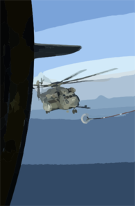 Ch-53 Air-to-air Refueling. Clip Art