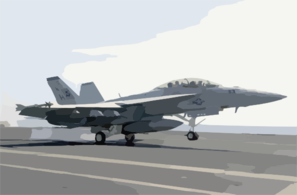 An F/a-18f Super Hornet Makes An Arrested Landing On The Flight Deck Aboard Uss Nimitz (cvn 68) Clip Art