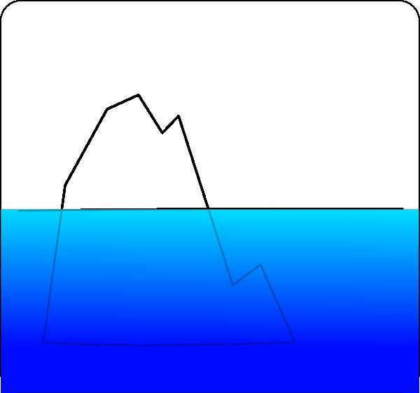Ice Berg With Sea Clip Art at Clker.com - vector clip art ...