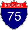 I-75 Sign Clip Art