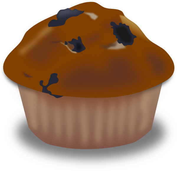 chocolate muffin clip art at clker com vector clip art online rh clker com muffins clipart png muffin clip art black and white free
