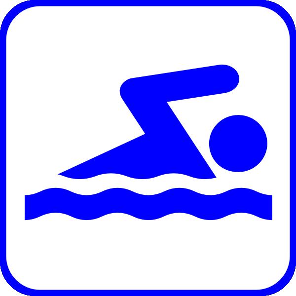 Swimming Icon Blue Cli...