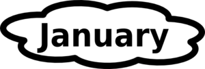 January Calendar Sign Clip Art