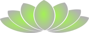 Lotus Green And Grey  Clip Art