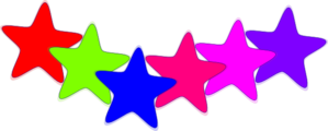 Colorful Star Clip Art
