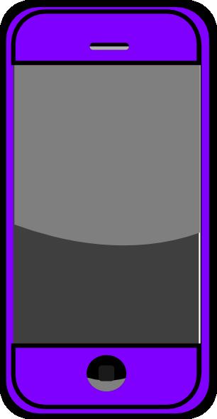 Purple Smartphone Clip Art at Clker.com - vector clip art online ...