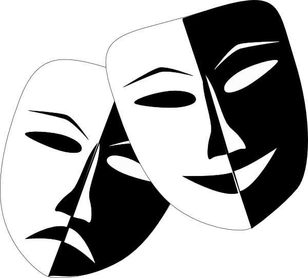 Theatre Masks Clip Art at Clker.com - vector clip art online, royalty ...